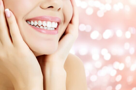 woman smiling close up